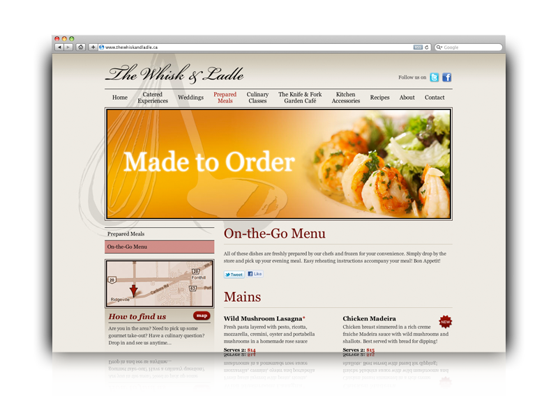 The whisk ladle web design by blox creative Go to the website